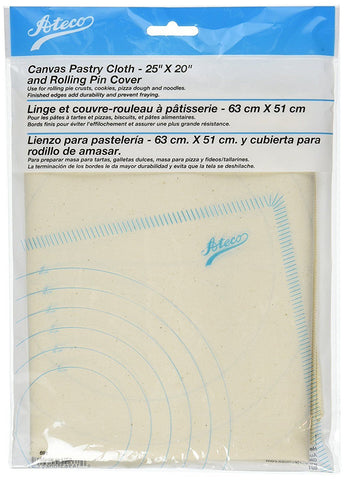 Ateco 691 Canvas Pastry Cloth and Rolling Pin Cover, 25