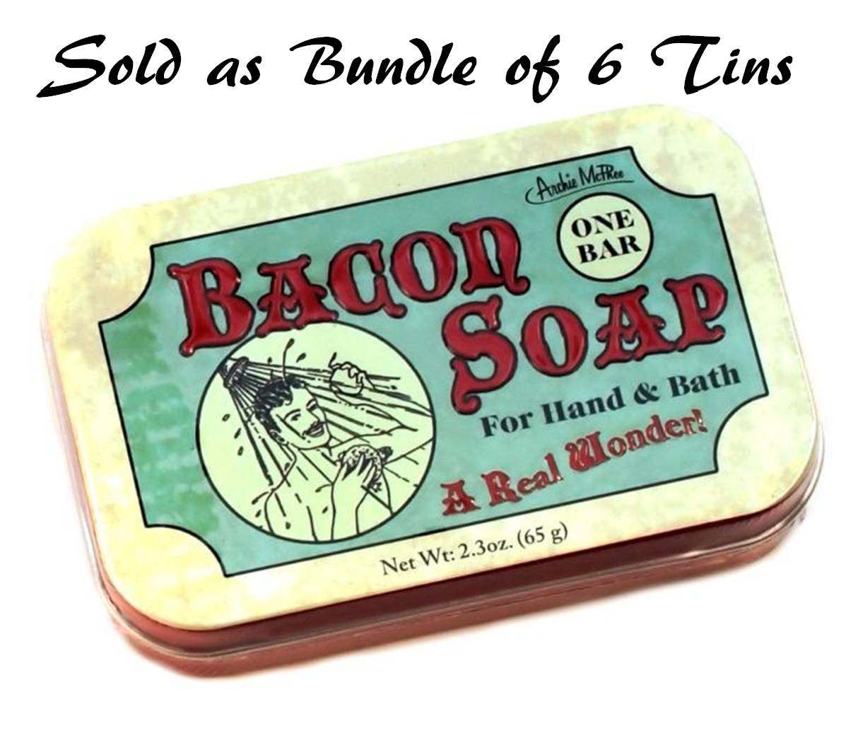 Accoutrements 11960 Bacon Soap in Tin, Bundle of 6 Tins