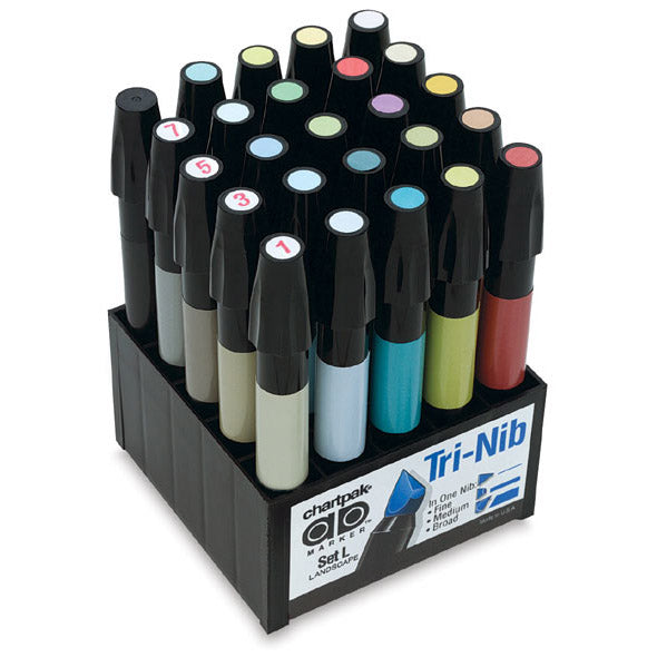 Chartpak SET-L AD Marker 25-Color Landscape Set