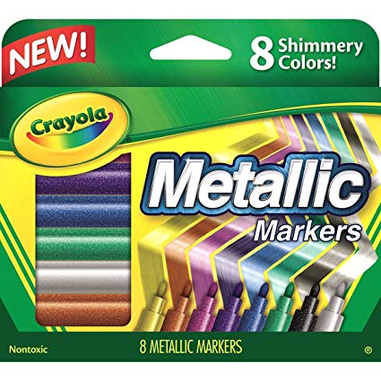 Crayola 58-8628 Metallic Markers, 8 Count