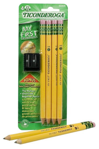 My First Ticonderoga Primary Size #2 Beginner Pencils