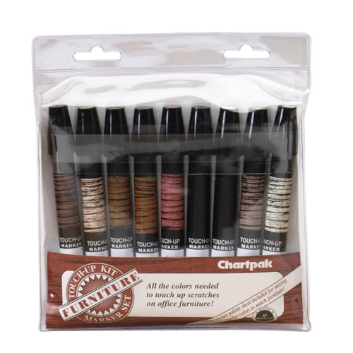 Chartpak	OF9 Furniture Touch-Up Wood Toned Color Markers Pack of 9