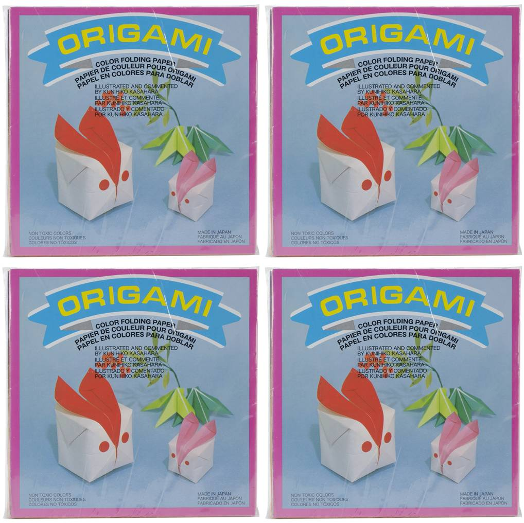Aitoh OG-4300 Solid Color Origami Paper, 6 Inch Square, 300 Sheets, Bundle of 4 Packs