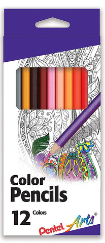 Pentel CB8-12, CB8-24, CB8-36 Arts Color Pencils, Assorted Colors