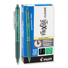 Pilot FriXion Clicker Retractable Erasable Gel Pens, Fine Point Green Ink (31453)