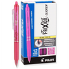 Pilot FriXion Clicker Retractable Erasable Gel Pens, Fine Point Pink Ink (31454)