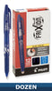 Pilot 31550, 31551, 31552 FriXion Ball Erasable Gel Pens, 0.7mm, Fine Point, Box of Dozen