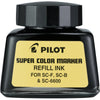 Pilot Super Color Permanent Marker Refill Ink, 1 Ounce Bottle with Dropper