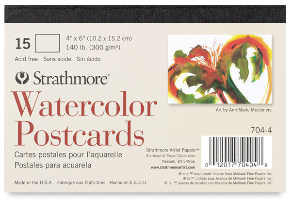 Strathmore Blank Watercolor Postcards Pad of 15