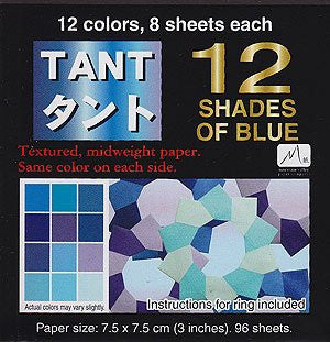 Tant Origami Paper - 3 inch Blue