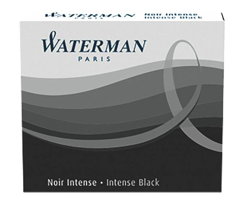 Waterman Fountain Pen Mini Lady Ink Cartridges, 6-Pack, Tuck Boxed