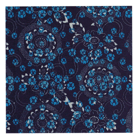 Aitoh YW-622 Blue Dyed Aizome Chiyogami Origami Paper, 4 Inch Square, 20 Sheets
