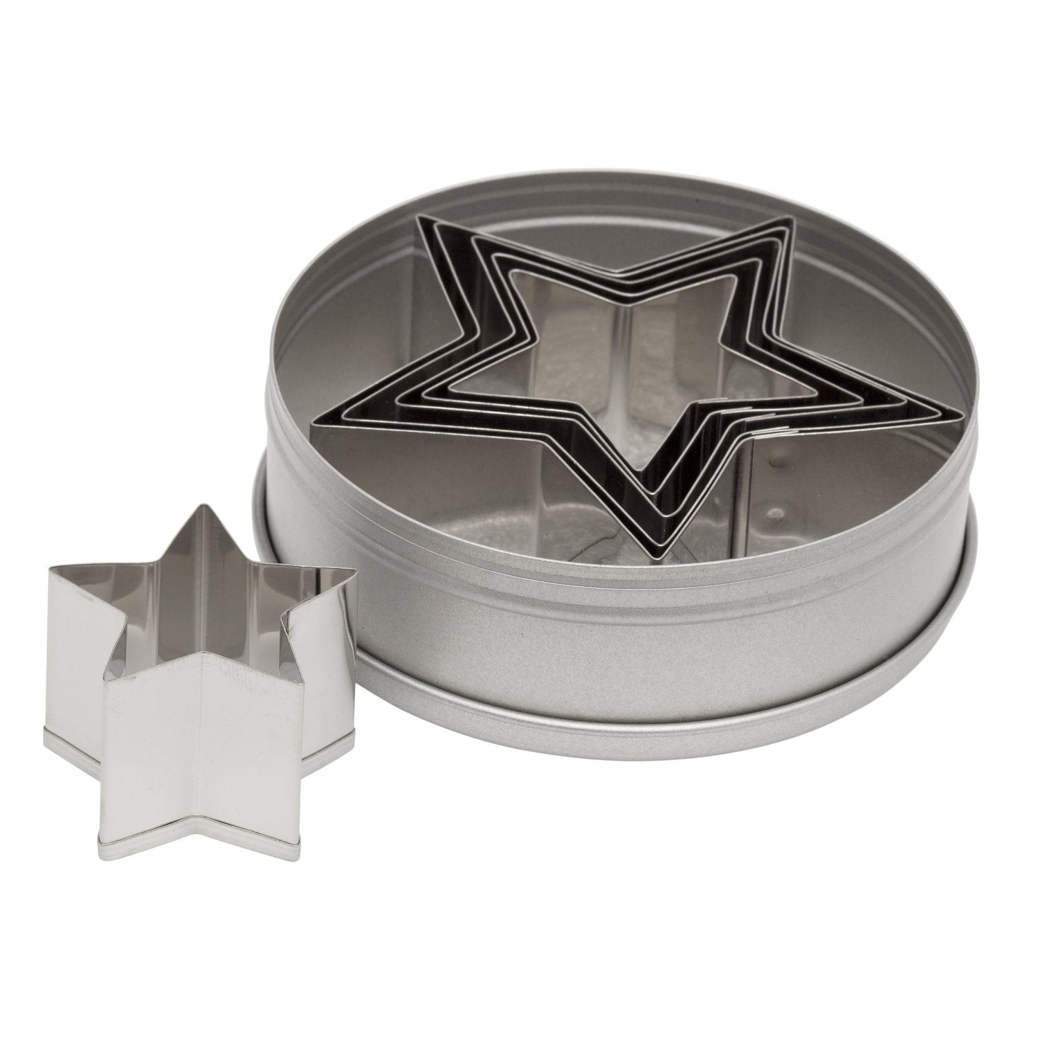 Ateco 7805 6-Piece Graduated Star Cookie Cutter Set