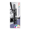 Pentel GFKP3BPA Arts Pocket Brush Pen with 2 Black Refills