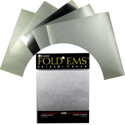 Yasutomo Embossed Foil Origami Paper - Metallic Assortment