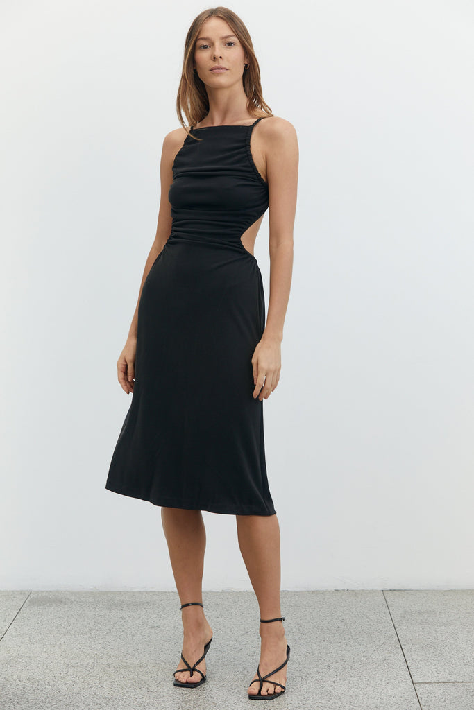 Third Form Lure In Midi Dress - Black
