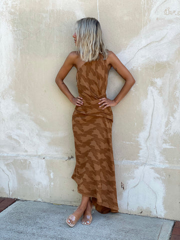One Fell Swoop Temptation Dress - Umber Jacquard