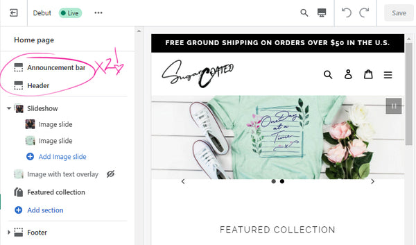 2 sections are now in shopify customize section