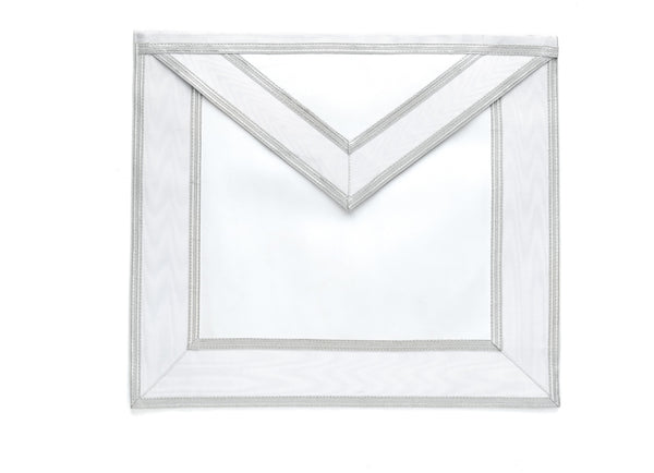 Master Mason White and Silver Apron