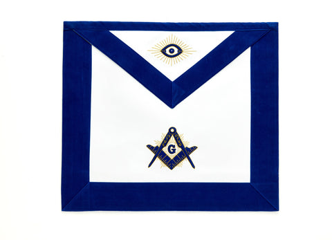 Master Mason Apron with Blue Border