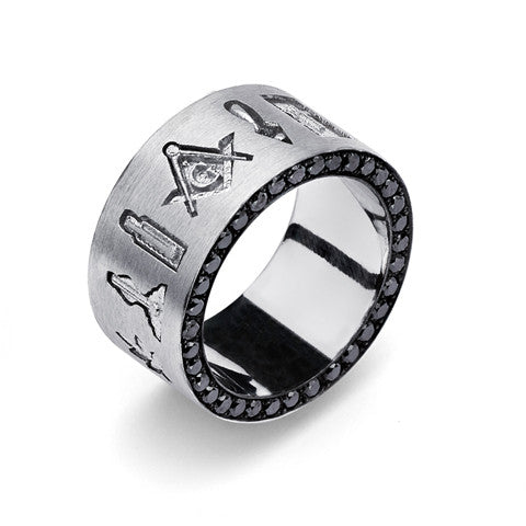 Masonic Emlems Eternity Ring