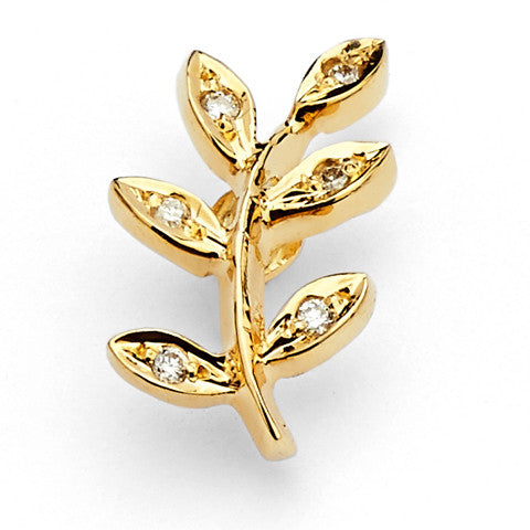 Acacia Gold and Diamond Pin