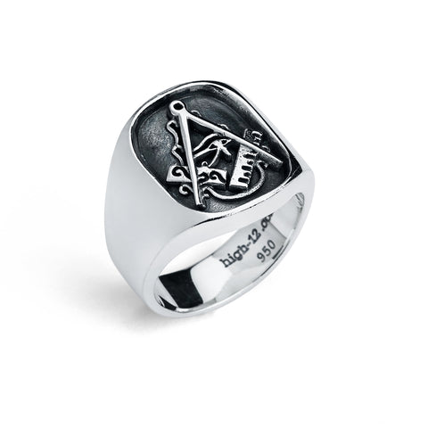 Master Mason Ring, Eye of Horus (Large)
