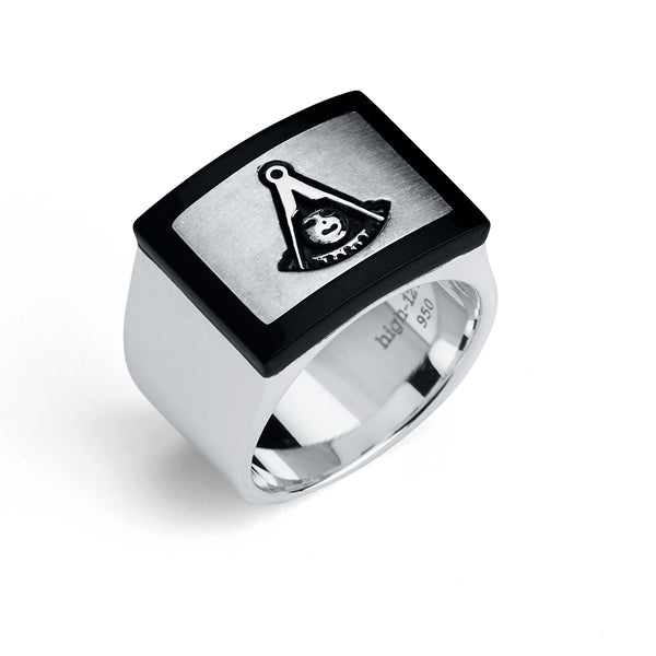 Past Master  Ring, Modern Rectangular Design