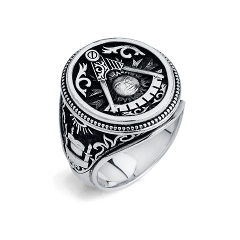 Past Master Ring, Gothic Oval Design (XL)