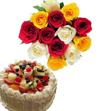 Dozen Mixed Roses (Color choice available)