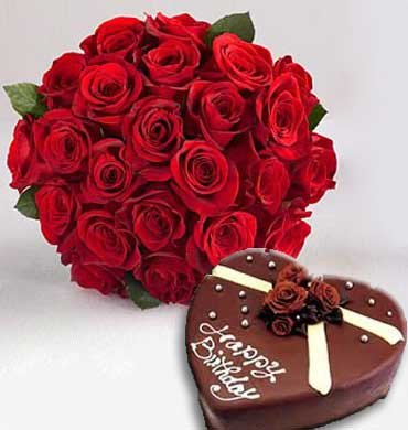 24 premium Red Roses bouquet
