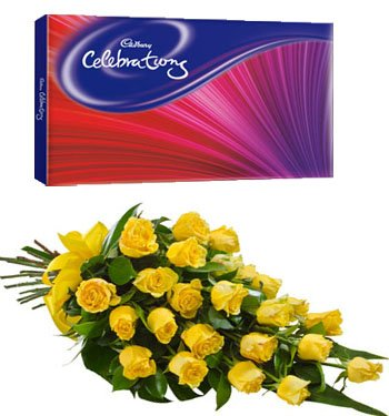 15 Stem Yellow Roses bouquet