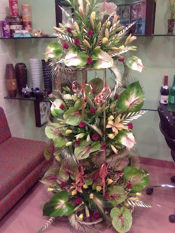 Exotic Premium Arrangement of 60 + Flowers 