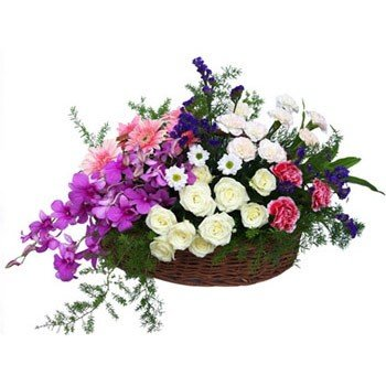 Basket of 50+ mix flowers