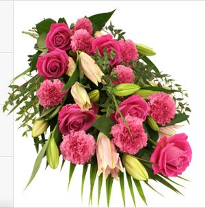 Bunch of 15 + Flowers (Roses, Carnations and Exotic lily)