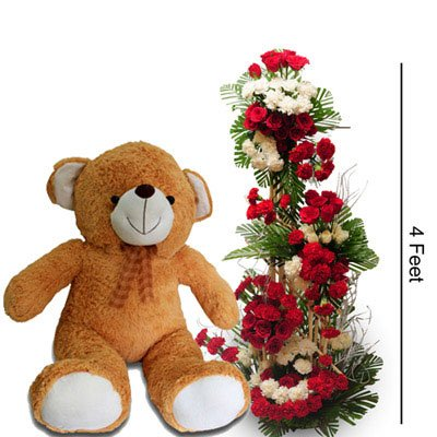 120 Mixed Flowers (Incl Roses and Carnation)