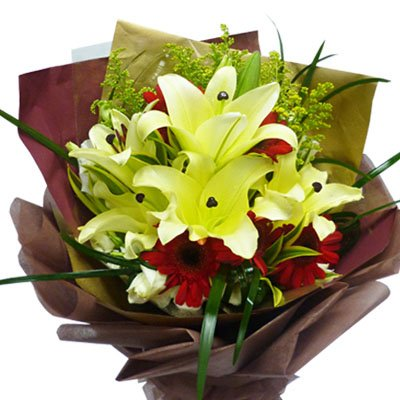 5-6 stem Exotic Beautiful Lilies
