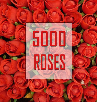# 5000 Roses Hamper - Premium Contains: