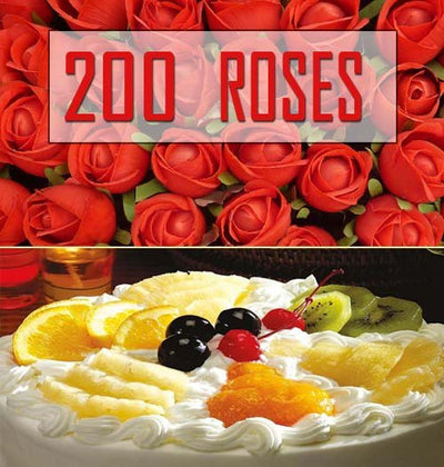 200 Premium Red Roses bouquet