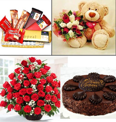 60 Red Roses Basket arranged in a cane basket 