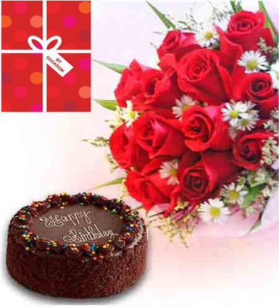 Dozen Red Roses (12 stem) bouquet