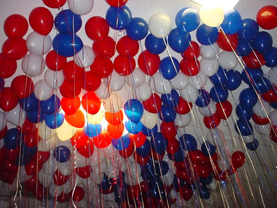 200 Colored Airfilled Balloons - Room Decor