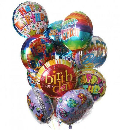 Bunch of 10 Pcs Premium Mylar Balloons (with stick).