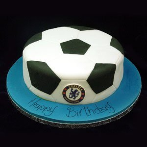 delicious cake in football shape is a right choice for the football lovers.