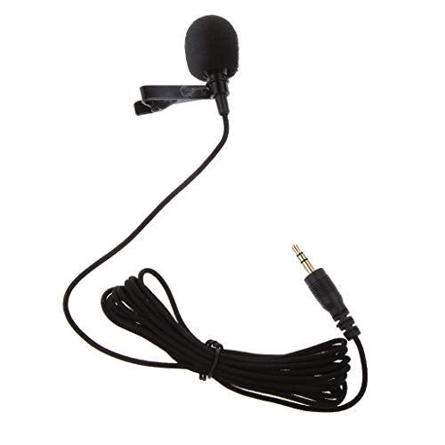 Lapras Metal mic 3.5mm /Clip Microphone for YouTube,Collar Mike,Voice Recording