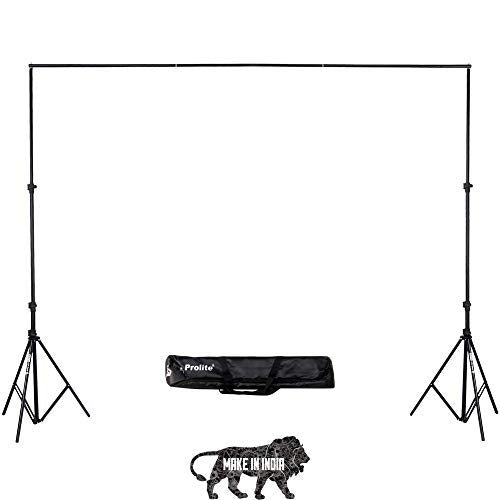 PROLITE Background Support Kit (9ft x 9ft) for Backdrop Photography & Videography with Carry Bag (Portable & Foldable)