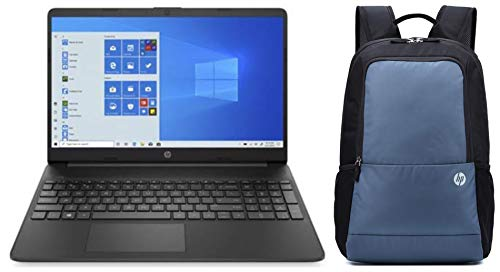 HP 15 10th Gen Intel Core i3 15.6-inch FHD Alexa Built-in Laptop (i3-10110U/4GB/1TB HDD/Win 10/MX130 2GB Graphics/ MS Office/Jet Black/1.74kg), 15s-du2060TX and Bag Combo