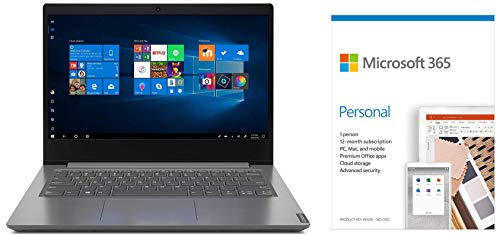 Lenovo V14 Intel Core i3 10th Gen 14-inch HD Thin and Light Laptop (4GB RAM/ 1TB HDD/ Windows 10 Professional/ Grey/ 1.6 kg), 82C4016TIHMicrosoft 365 Personal-One Year Subscription Included