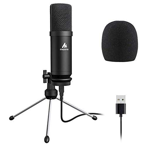 Maono AU-A04TR USB Condenser Cardioid Microphone Kit with 192KHZ/24BIT Sampling Rate for Podcast and PC