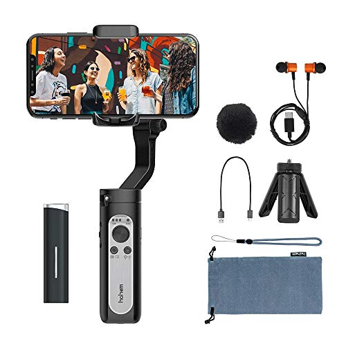 Hohem iSteady X Vlogger Kit- 3-Axis Gimbal Handheld Stabilizer with Wireless Microphone & Bluetooth Control for Vlog Youtuber Live Video